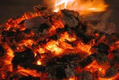угли горячие Стоковая Фотография RF