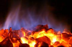 угли горячие