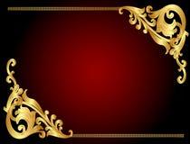 угловая картина золота рамки en предпосылки Стоковые Изображения