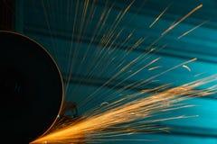 Угловая машина с яркими sparkles Стоковое Изображение RF