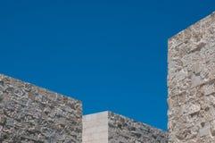 Угловое здание в конспекте Стоковое Фото