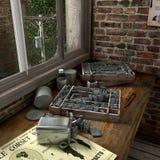 угловойое старое печатание Стоковые Изображения RF