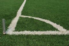 угловойой футбол поля Стоковая Фотография RF