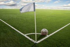 угловойой футбол флага поля Стоковая Фотография