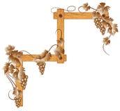 угловойые виноградины деревянные бесплатная иллюстрация