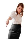 угловойые левые более низкие пункты стоя к женщине Стоковая Фотография