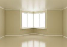 угловойые пустые окна комнаты Стоковое фото RF