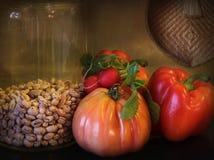 угловойые свежие итальянские овощи кухни Стоковое фото RF