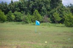 Угловой флаг на футбольном поле Стоковые Фотографии RF