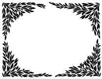 Углы для рамок силуэтов лист бесплатная иллюстрация