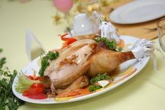 уговаривать тарелки цыпленка Стоковые Фото
