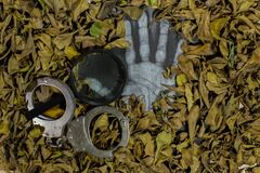 Уголовное расследование, расчехляет случаи стоковое фото rf
