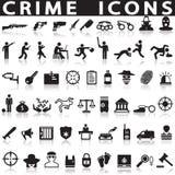 Уголовные установленные значки Стоковое Фото