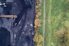 Угольная шахта в Силезии, Польше Стоковые Фото
