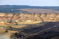 Угольная шахта Kostolac открытого карьера Стоковое Изображение RF
