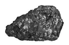Уголь близкий вверх на белой предпосылке установьте текст скопируйте космос Высококачественный уголь минированный в тазе Kuznetzk Стоковая Фотография