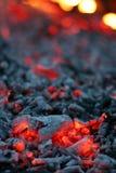 уголь в реальном маштабе времени Стоковые Фото