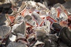Угли огня Текстура угля Горя уголь стоковое фото rf