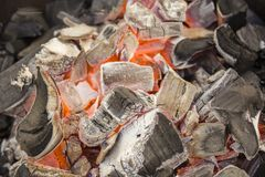 Угли огня Текстура угля Горя уголь стоковое изображение rf