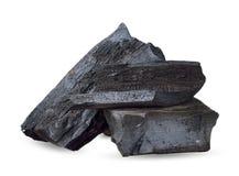 Уголь изолированный на белом с путем клиппирования стоковые изображения