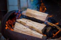 Уголь и огонь Стоковое Фото