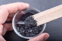 Уголь на деревянной ручке Стоковое фото RF