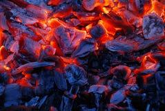 уголь предпосылки горящий Стоковые Изображения RF