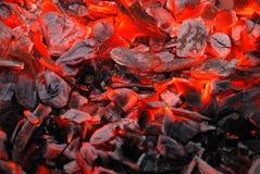 уголь предпосылки горящий Стоковые Изображения