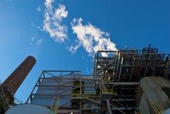 Уголь сгорел электростанцию Стоковое Изображение RF