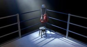 Угол бокса и перчатки бокса иллюстрация вектора