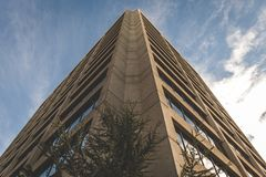 Угол высокорослого здания города Стоковая Фотография RF