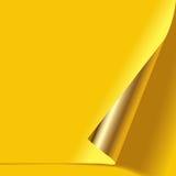 Угол завитый золотом бесплатная иллюстрация