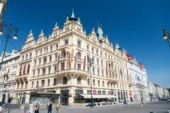 Угол здания гостиницы в Праге, чехии Стоковое Изображение