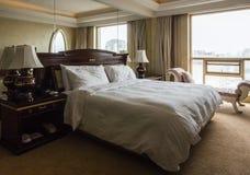 угол как выставка съемки комнаты интерьера гостиницы очень возможная к широко Стоковые Изображения