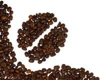 угол кофе фасолей Стоковое Фото