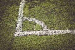 Угол предпосылки текстуры футбола футбола для дизайна Стоковая Фотография RF