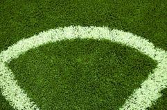 Угол футбола стоковые изображения