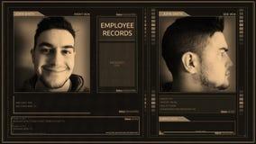 Угол штыря угла интерфейса работника цифров футуристический современный холеный видеоматериал