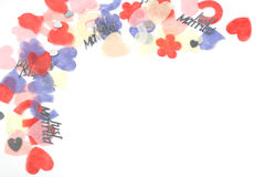 угол confetti Стоковая Фотография