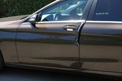 Угонщик в районе tne, попытке угона автомобиля Стоковое Изображение