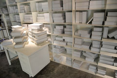 Угол белой книги Стоковые Фотографии RF