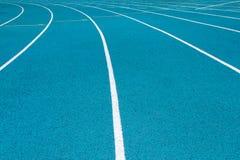 Угол голубого идущего следа Стоковое фото RF