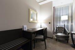 угол как выставка съемки комнаты интерьера гостиницы очень возможная к широко Стоковое Изображение