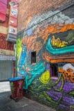 Угол обезьяны граффити Мельбурна Стоковая Фотография RF