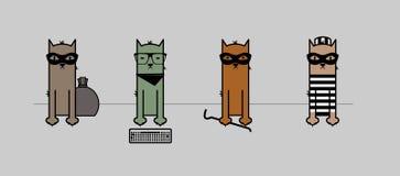 Уголовные коты Стоковые Фото
