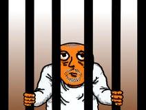 Уголовным тюремная камера заключенная в турьму пленником иллюстрация штока