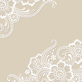 Угол орнамента вектора цветка бесплатная иллюстрация