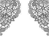 Угол орнамента вектора цветка Стоковая Фотография
