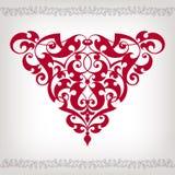 Угол рамки вектора винтажный барочный богато украшенный Стоковые Фотографии RF