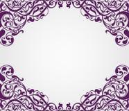 Угол рамки вектора винтажный барочный богато украшенный Стоковая Фотография RF